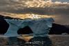 Ice arch at sunrise