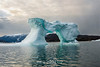 Sculptured blue ice