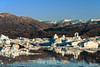 Ice pack, icefields and reflections, Rodefjord, Scoresby Sund, East Greenland