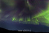 Northern lights in Rodefjord, Scoresby Sund, East Greenland