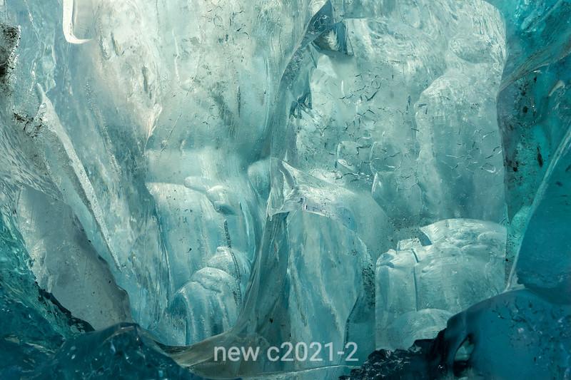 Detail, iceberg blue ice, Rodefjord, Scoresby Sund, East Greenland