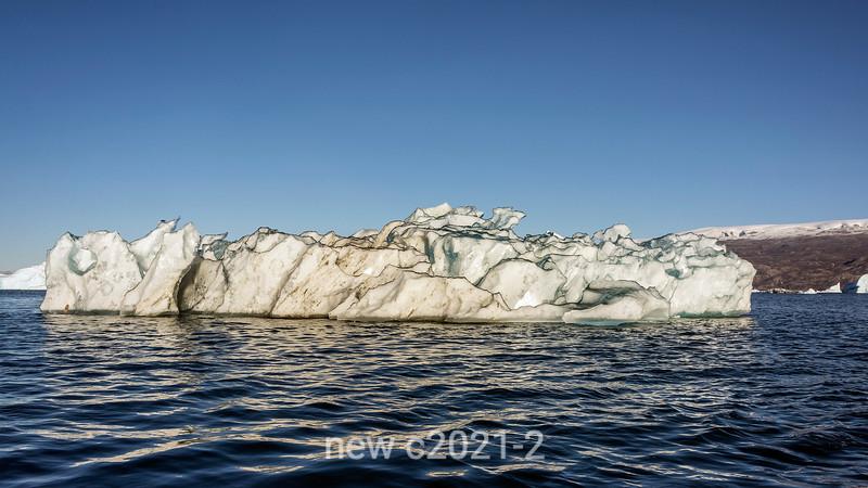 Black-rimmed iceberg, Rodefjord, Scoresby Sund, East Greenland