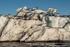Black-rimmed iceberg close-up, Rodefjord, Scoresby Sund, East Greenland