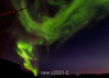 Northern lights, Renodde (Ren Point), Rodefjord, Scoresby Sund, Greenland
