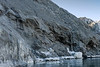 Lateral moraine, Rolige Brae Glacier, Rodefjord, Scoresby Sund, Greenland