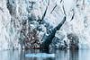 Dark blue ice