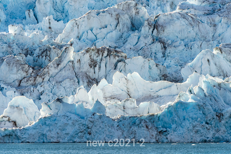 Where the glacier meets the sea, Rolige Brae Glacier, Rodefjord, Scoresby Sund, Greenland