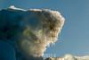 Ice mushroom on an old crystalline iceberg, Rodefjord, Scoresby Sund, Greenland