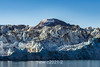 Rolige Brae (Peaceful) Glacier with jumbled dirt-coated ice, Rodefjord, Scoresby Sund, Greenland
