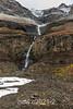 Late summer waterfall and vegetation, Vikingebugt Inlet, Scoresby Sund, Greenland