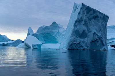They come in all shapes and sizes sometimes jumbled up in iceberg graveyards where they have been stranded in shallow waters