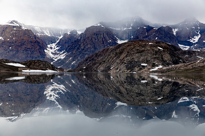 Even without icebergs the mountains surrounding the fjords were beautiful