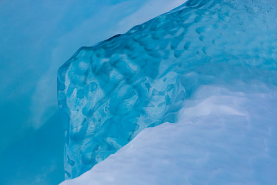 Not just reds and yellows, but unbelievable shades of blue as in this chunk of glacial ice floating in the fjord