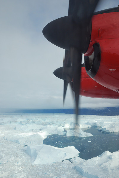 Aerial view of the Ilulissat icefjord.