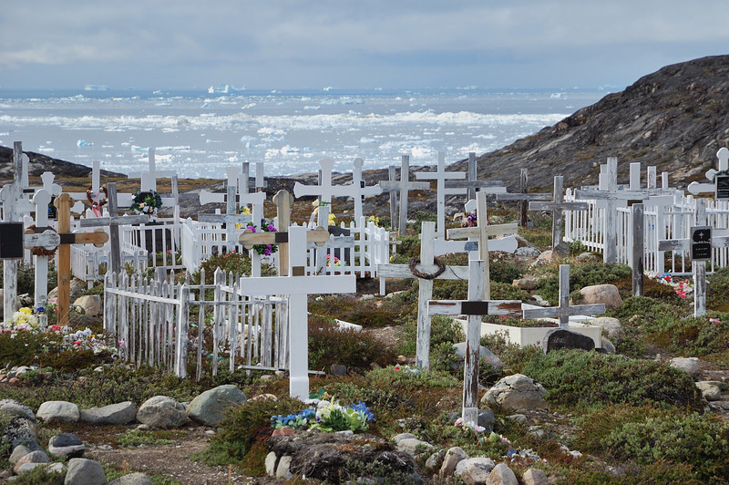 A graveyard, just outside Ilulissat.