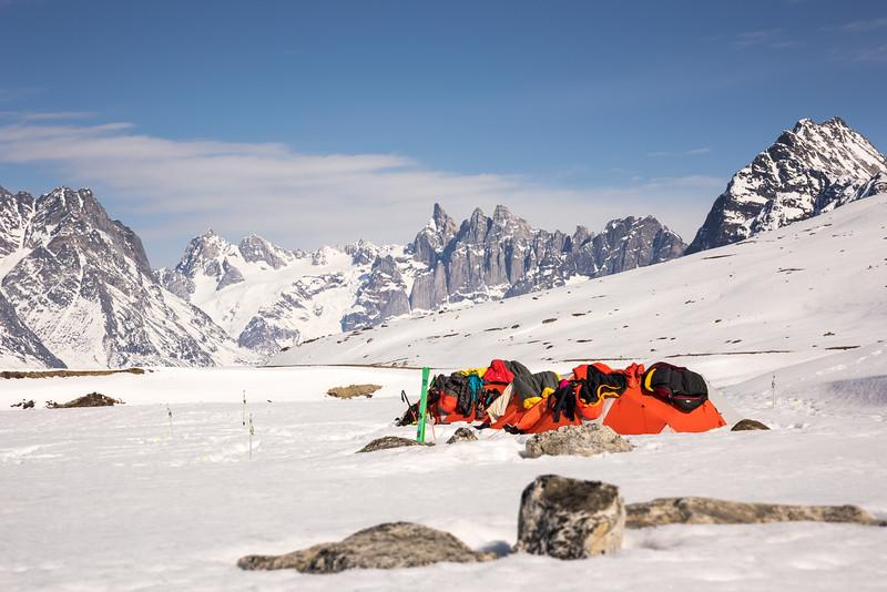Camp overlooking Storebror, Tasiilap, East Greenland