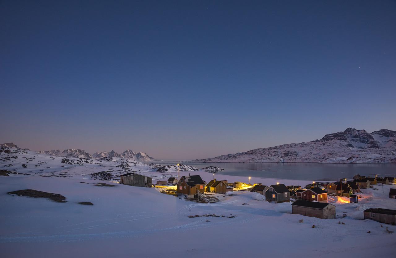Kuummiit at twilight, East Greenland