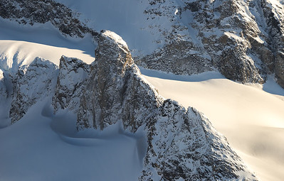 Ridgeline in afternoon sun near Kuummiit, East Greenland