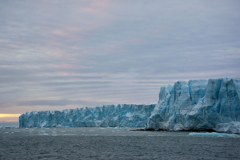 Tabular Iceberg and Clouds