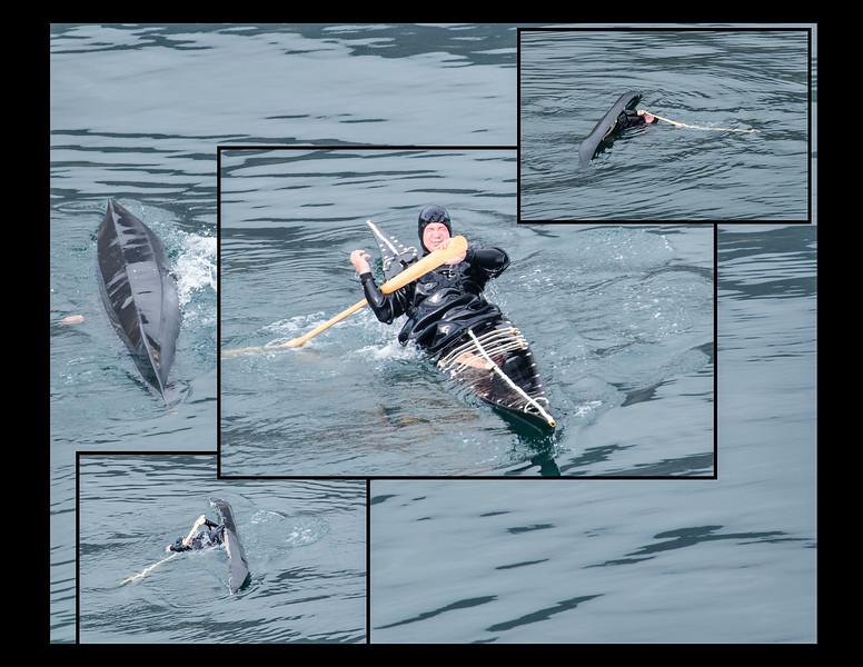 Kayak roll collage
