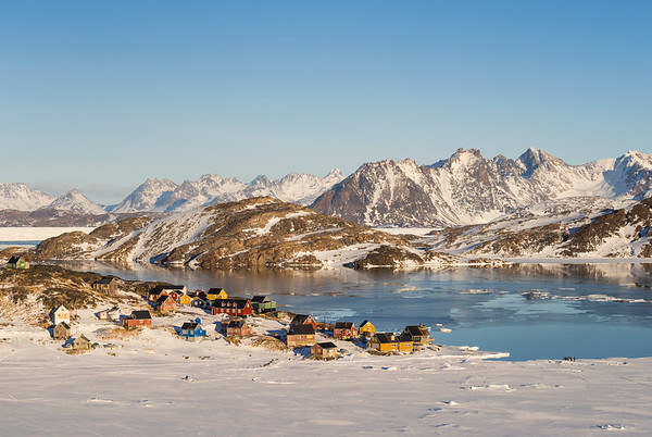 Kulusuk at sunrise, East Greenland