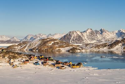 Kulusuk at sunrise, East Greenland