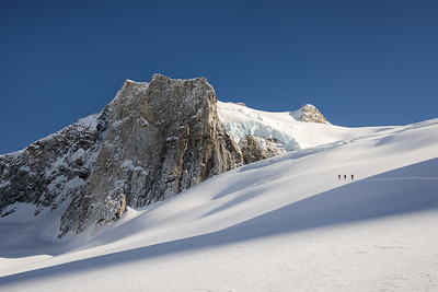 Skiing up a rarely visited peak, East Greenland