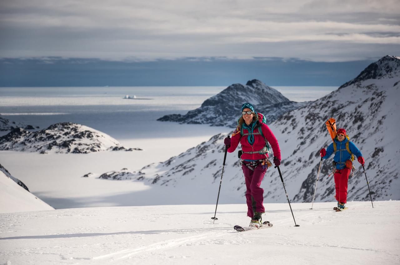 Toto and Stuart on Apusiaajik, East Greenland