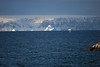 Icebergs with Fata Morgana phenomenon. Oct 2010