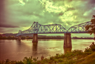 Ironton Russell Bridge Saturated