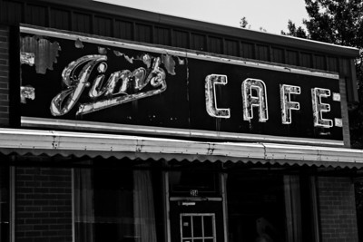 Jims Cafe in downtown Greenville, Mississippi Some photos just scream for Black and White! These Mississippi Delta photos are no exception. Great southern buildings and architecture from our past and present. These signs were found throughout the delta.