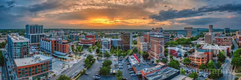 Sunset Over Greenville's Center