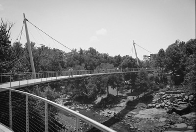 Liberty Bridge over the Reedy River Falls - Greenville, SC.
