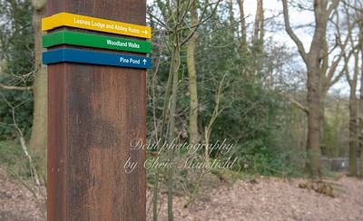 March 7th 2019 . New signage in Lessness abbey woods