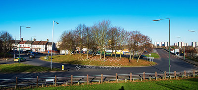 Nov' 28th 2016.  Knee hill roundabout