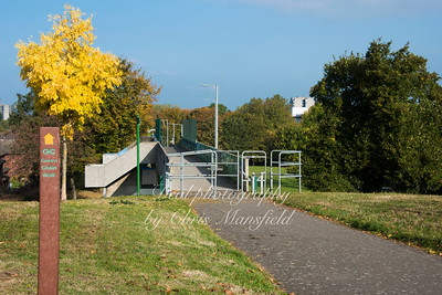 Oct' 23rd 2016.  Walkway from the Abbey towards Thamesmead