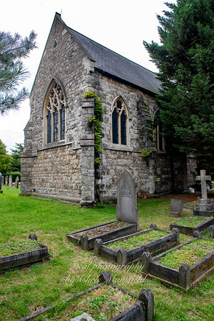Aug' 1st 2019. Charlton cemetery.   Catholic chapel ( now derelict )