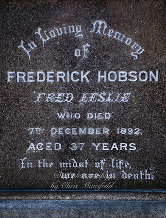 July 24th 2019.  Memorial to Fred Hobson,  a famous actor who was born in Woolwich