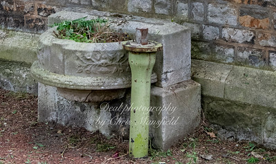 Aug' 1st 2019 .  Charlton cemetery,..  This granite water fountain is at the side of the catholic chapel and was moved here in  1979