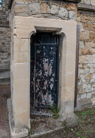 Aug' 1st 2019.  Charlton cemetery..  Bell tower door