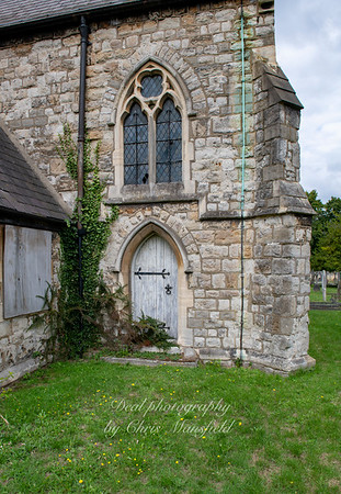 Aug' 1st 2019.  Charlton cemetery,  catholic chapel rear ( now derelict )