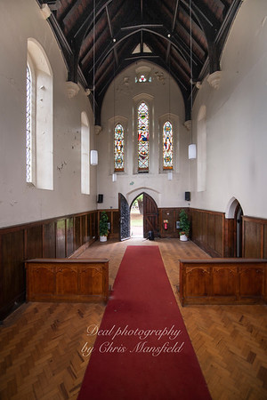 Aug' 1st 2019.  Charlton cemetery.  Anglican chapel interior ( now disused )