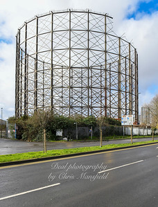 Feb' 29th 2020. Greenwich gas holder being dismantled