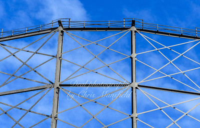 Feb' 20th 2020. Greenwich gas holder architectural detail