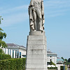 July 12th 2014 . William 4th statue in Greenwich park