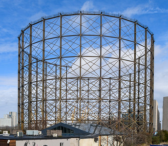 Feb' 20th 2020. Greenwich gas holder being dismantled