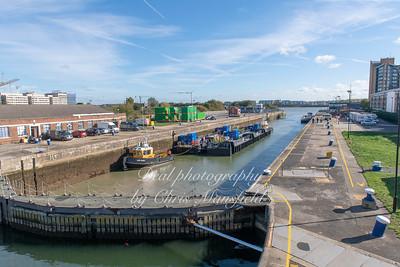 Oct 18th 2018.  New ferry landing gear at KG5 docks
