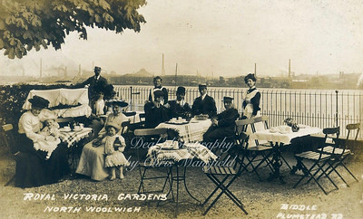 Late Victorian Postcard, Victoria park north Woolwich
