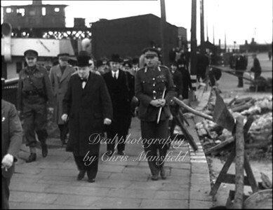 Winston Churchill at Woolwich Ferry north side