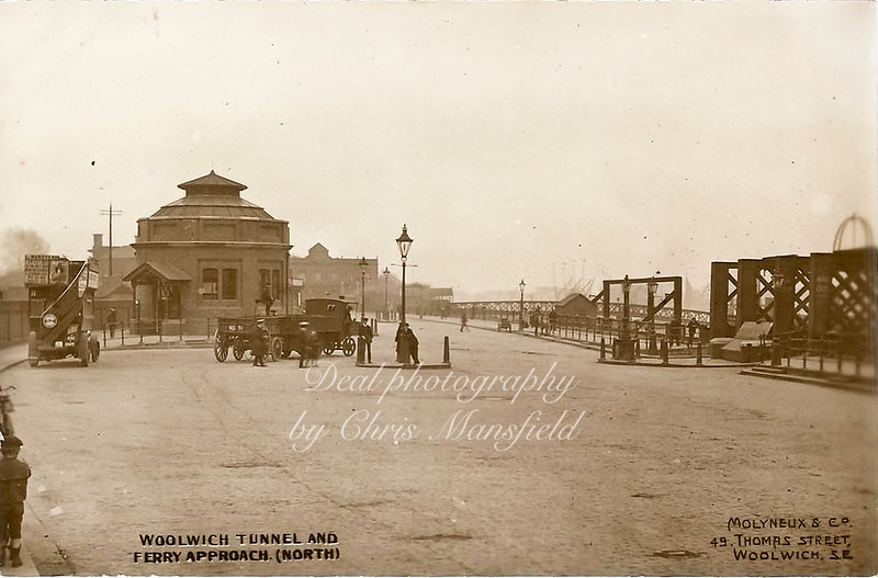 Approx' 1915.  Ferry approach and foot tunnel North Woolwich